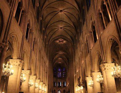 Notre-Dame-inside-night